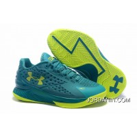 Under Armour Curry One Low Women Green Yellow Sneaker Free Shipping
