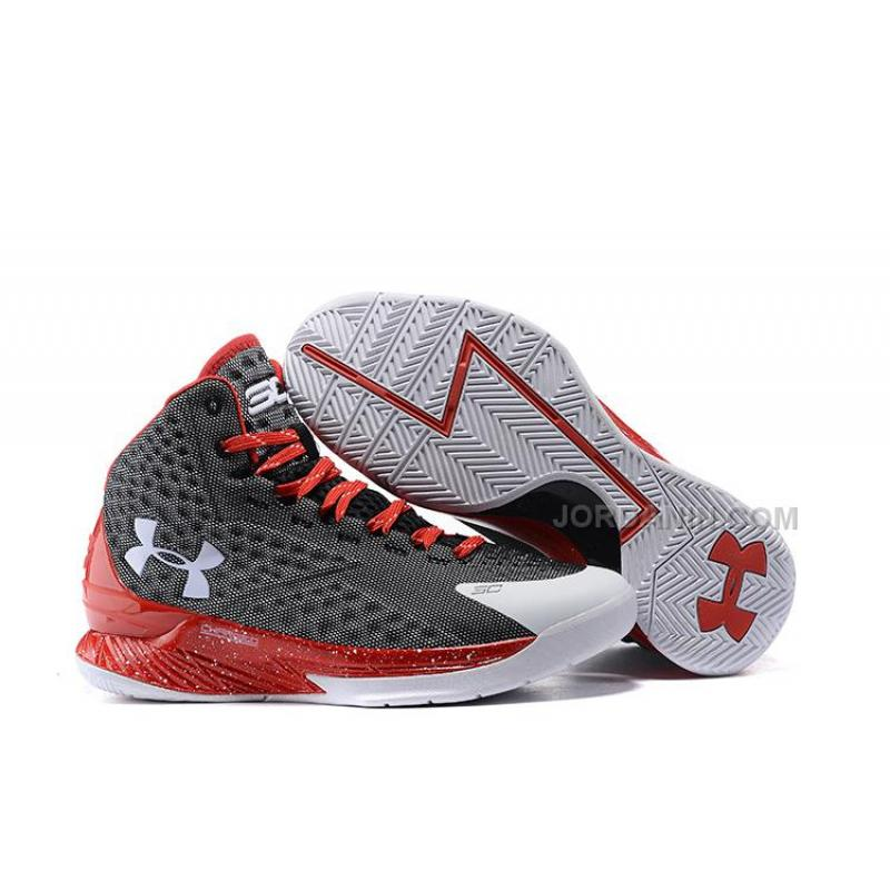 c729d9477bc4 USD  82.00. Cheap Under Armour Stephen Curry One Dark Grey White Red ...