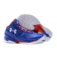 Hot Under Armour Curry Two Royal Blue Red White