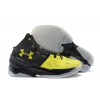 Hot Under Armour Curry Two Black White Yellow