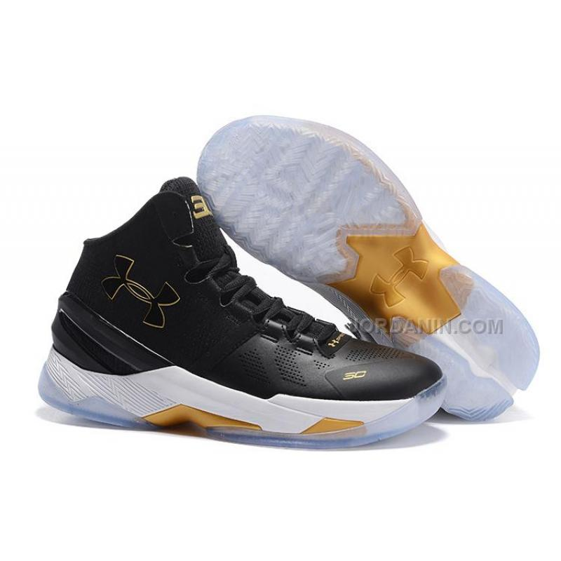 best service 2d210 27a82 Under Armour Curry Two Black Gold Sale