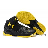 Cheap Under Armour Curry 2 Black Knight – Black/Yellow Online