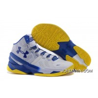 'Dub Nation' Under Armour Curry 2 Blue/White – Yellow For Sale