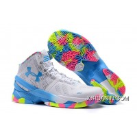 'Surprise Party' Under Armour Curry 2 White/Mojo Pink-Electric Blue Super Deals