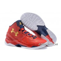 'Floor General' Under Armour Curry Two Red/Academy-Metallic Gold New Release
