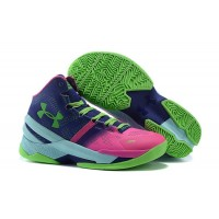 'Northern Lights' Under Armour Curry 2 Rebel Pink/Purple Panic-Poison Green Top Deals