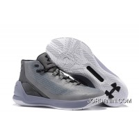 "2016 ""Grey Matter"" Under Armour Curry 3 Steel/Aluminum-Black Super Deals"