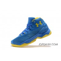 Good Under Armour Curry 3.5 Blue Yellow Mens Shoes Best