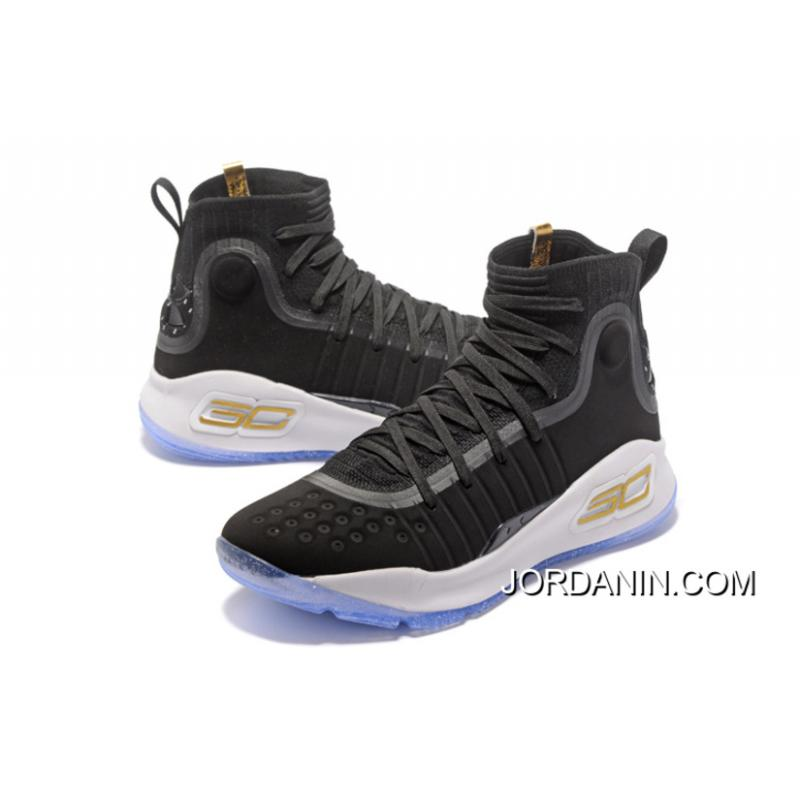 2b73f4fd5bda USD  90.82  272.46. Under Armour Curry 4 Basketball Shoes Black White For  Sale ...