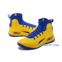 Under Armour Curry 4 Basketball Shoes Yellow Blue Super Deals