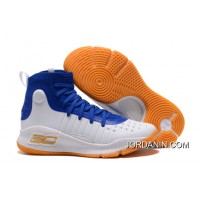 Under Armour Curry 4 Basketball Shoes Blue White Orange Super Deals
