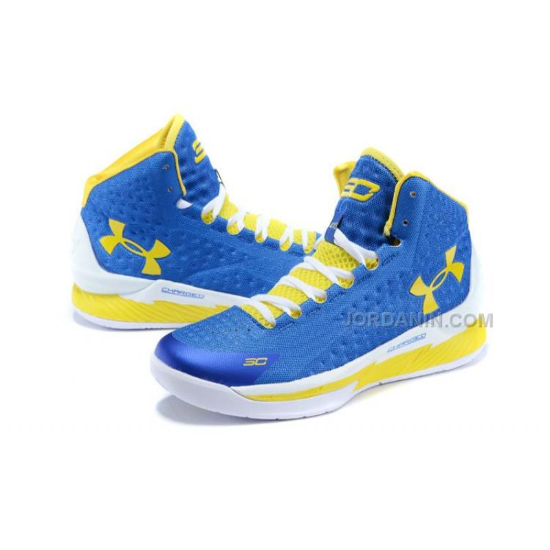 under armour curry blue and yellow shoes