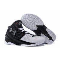 """Under Armour Curry 2 """"Suit & Tie"""" Black White Red Shoes For Sale Hot"""