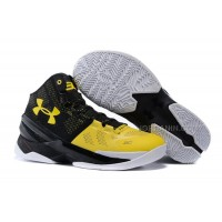 "Under Armour Curry 2 ""Long Shot"" Black/Taxi-White Shoes For Sale Hot"