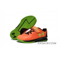 Under Armour Kids Orange Green Shoes New Style