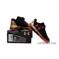 Under Armour Kids Black Red Shoes New Style