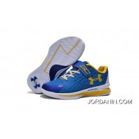 Under Armour Kids Blue White Shoes Discount
