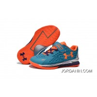 Under Armour Kids Blue Orange Shoes Super Deals