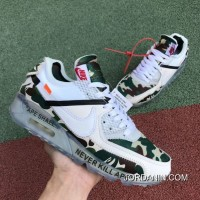 Women OFF-WHITE X Nike Air Max 90 Sneakers SKU:161002-304 New Year Deals