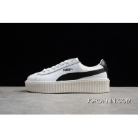 Newest Style Puma Rihanna Original Be Suede Creepers-Flatform Shoes White And Black 364462-01 Women Shoes