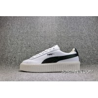 Puma Rihanna Original Be Suede Creepers-Flatform Shoes White And Black Women Shoes 364462-01 Hot Selling