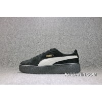 Puma Rihanna Original Be Suede Creepers-Brown Flatform Shoes Women Shoes 361005-001 Discount Sell