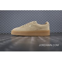 Puma Suede Creepers Rihanna Early Generation To Be Version Of Whole Wheat Color Flatform Shoes Bottom Shoes SKU 361005 03 Women Shoes On Sale