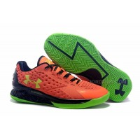Cheap Womens Under Armour Curry One Low Bolt Orange