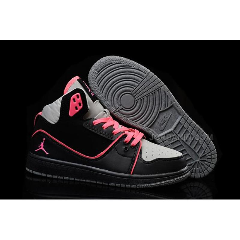 USD  90.00. Girls Nike Air Jordan 1 Flight 2 GS Black Hyper Pink-Wolf ... 2afd5f751