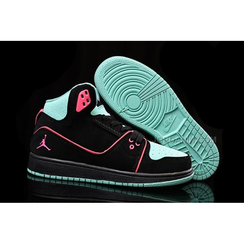 USD  90.00. Girls Nike Air Jordan 1 Flight 2 GS Black Bleached Turq-Hyper  Pink Sale ... 07ca120dd