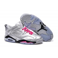 """Air Jordan 6 Retro Low """"Valentines Day"""" Silver Pink On Sale"""