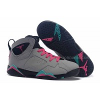 "Air Jordan 7 GS ""Miami Vice"" Custom Wolf Grey/Pink Flash-Mint Green For Sale"