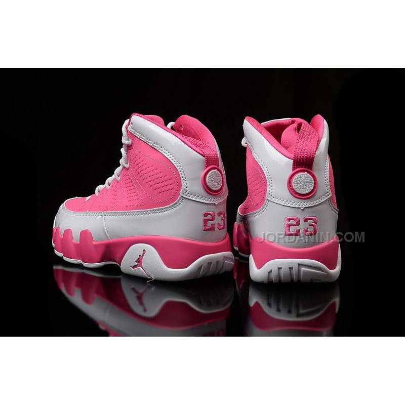low cost 189ae 17e38 ... Girls Air Jordan 9 (IX) GS White Pink For Sale ...