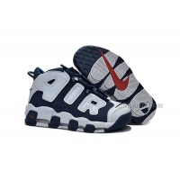 """Womens Nike Air More Uptempo Girls """"Olympic"""" Midnight Navy/White-Red Sale"""