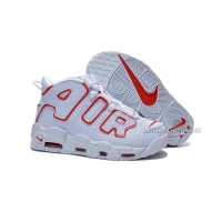 Womens Nike Air More Uptempo Girls White/Varsity Red On Sale