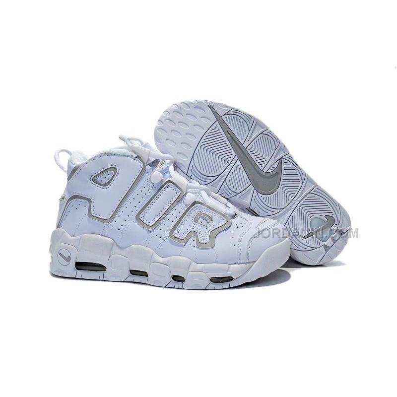 Womens Nike Air More Uptempo GS White Neutral Grey Girls For Sale ... ce29f13a7a