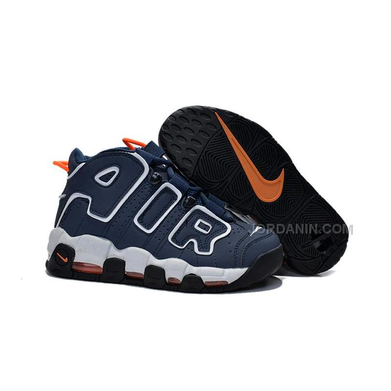 new product 162d8 cc8dd Womens Nike Air More Uptempo GS Dark Obsidian-Orange New Sale For ...