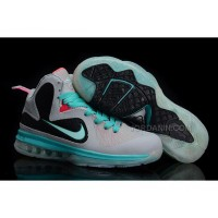 New Arrival Nike Zoom LeBron 9 Women Basketball Shoes Gray/Pink/Jade