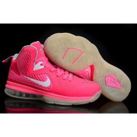 New Arrival Nike Zoom LeBron 9 Women Basketball Shoes Pink