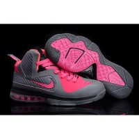 New Arrival Nike Zoom LeBron 9 Women Basketball Shoes Pink/Gray