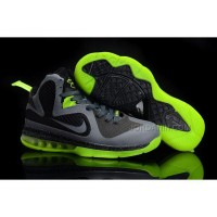 New Arrival Nike Zoom LeBron 9 Women Basketball Shoes Gray/Green