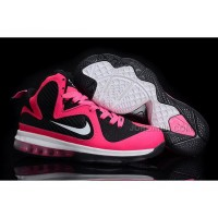 Discount Nike Zoom LeBron 9 Women Basketball Shoes Pink/Black