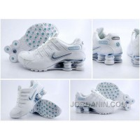 Womens Nike Shox NZ White Blue 2016 In Stock For Sale