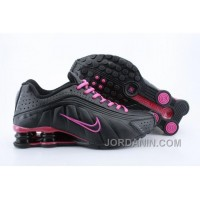 Womens Nike Shox R4 Black Peach Pink 2016 In Stock New Style