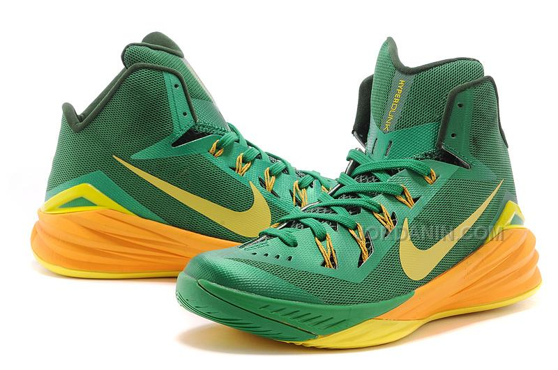 """cfdcc850bc4a ... Nike Hyperdunk 2014 """"Brazil"""" Lucky Green Sonic Yellow-Gorge Green For  Sale ..."""