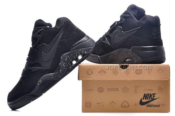 premium selection 06216 10fe7 Cheap Charles Barkley Shoes Nike Air Force 180 Low All Black
