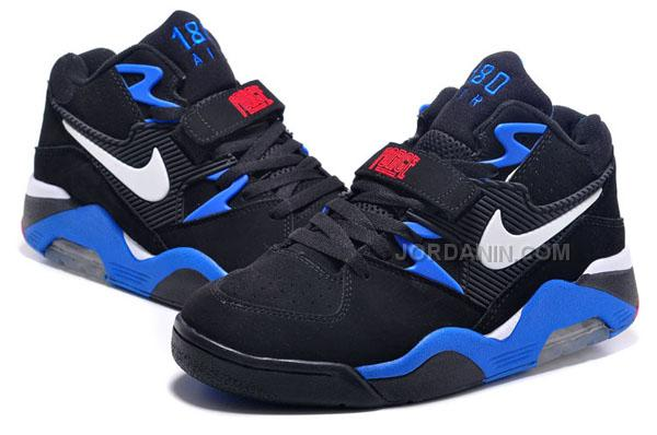 new york 11f0d 19df1 Cheap Charles Barkley Shoes Nike Air Force 180 Low Black Blue Red