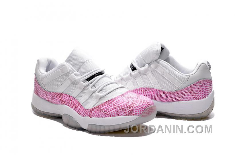 cdbe1e1080e Girls Air Jordan 11 Low White Pink Snakeskin, Price: $92.00 - New ...