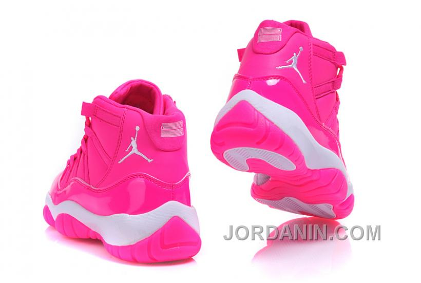 "4c356a38bfd0e 2016 Girls Air Jordan 11 ""Pink Everything"" Pink White Shoes For Sale Online"