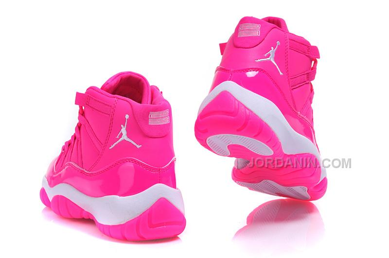 """cd4b299faa7a43 2016 Girls Air Jordan 11 """"Pink Everything"""" Pink White Shoes For Sale Online  Hot"""